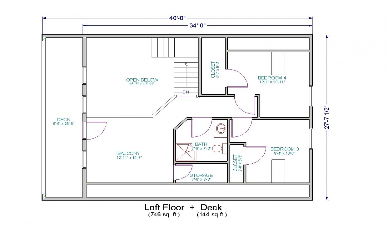 Small House Floor Plans With Loft Small Two Bedroom House