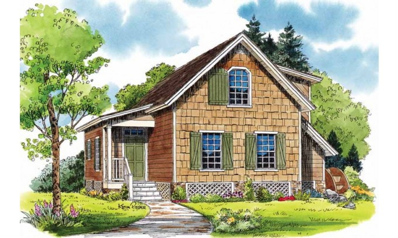 Small house plans storybook cottage small cottage house for Southern cottage house plans with photos
