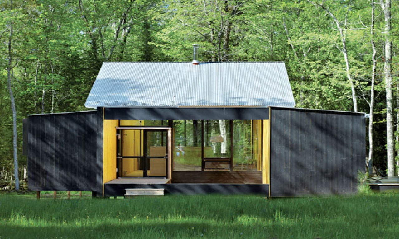 Small prefab homes and cabins prefab cottage homes modern for Modular cabins and cottages