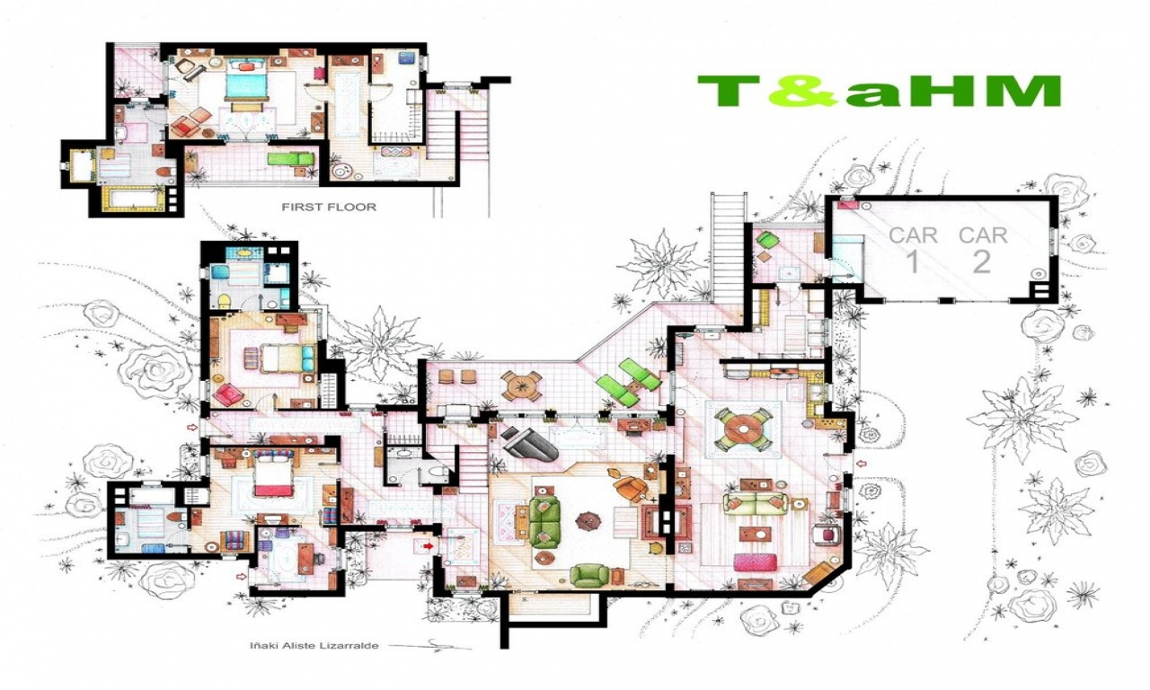 Two and a half wrestlers two and a half men floor plans Two and a half men house plan