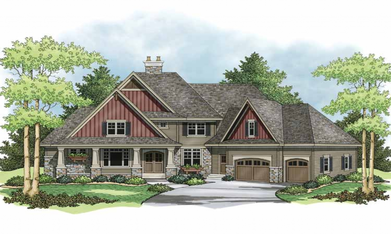 Two story craftsman style homes exterior colors 2 story Craftsman house plans two story