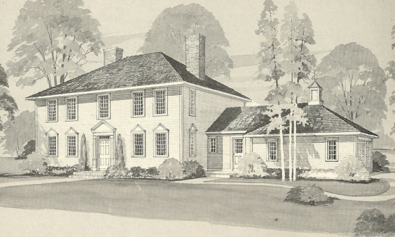 1970s Colonial House Exterior Makeover 1970s Colonial Home House Plans Vintage House Plans