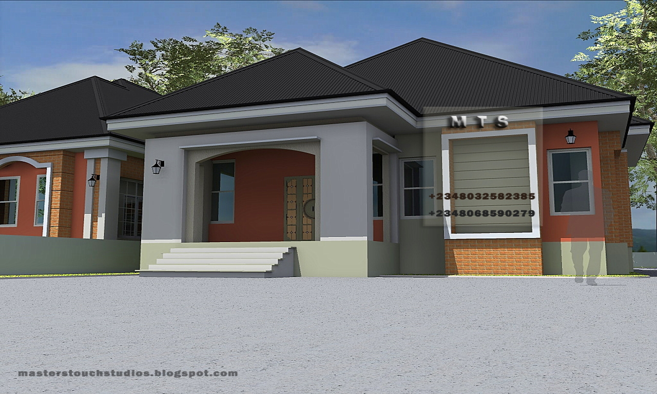 Bedroom Bungalow Designs Modern House Plans Treesranch