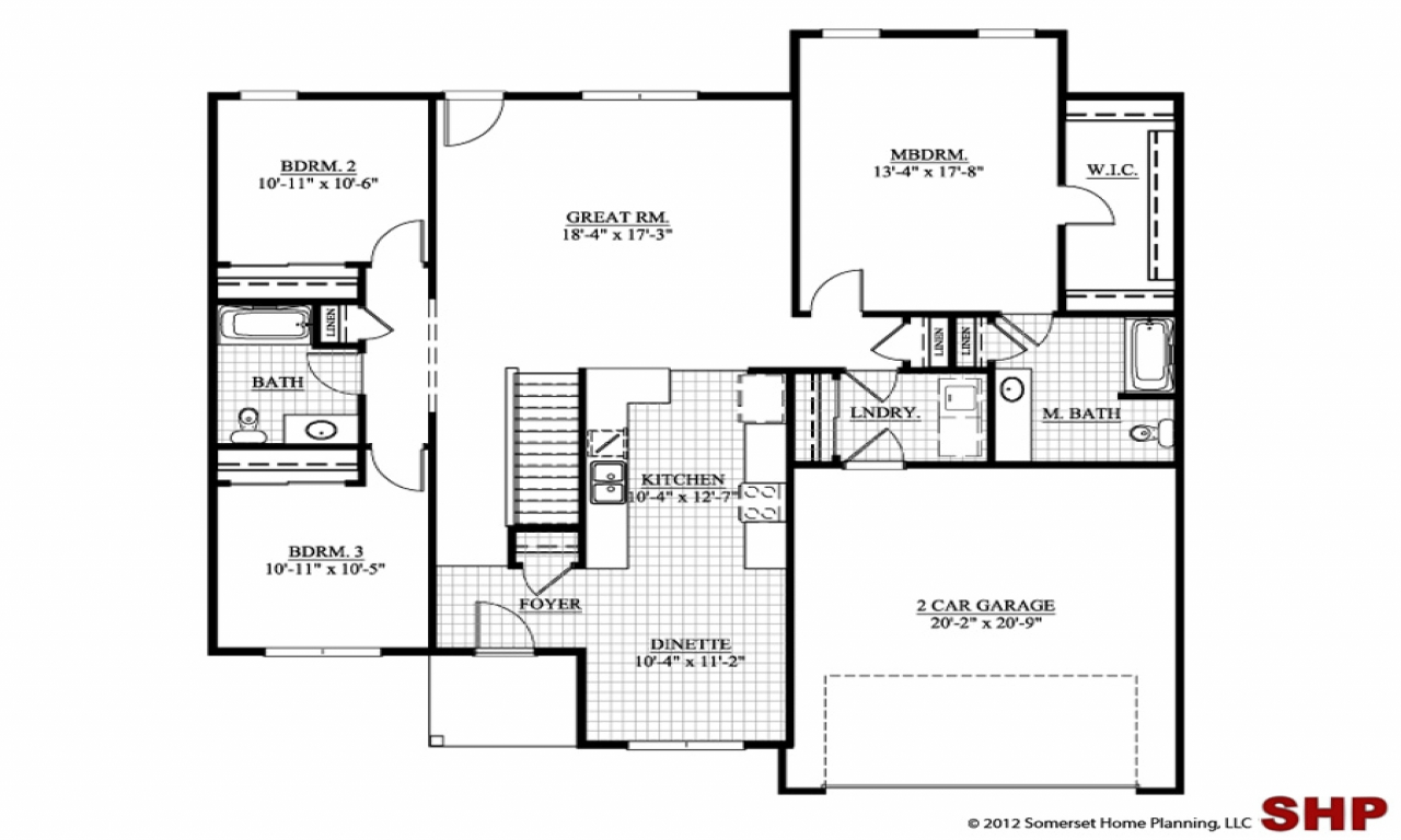 4 bedroom ranch house plans ranch house plans no garage for 4 bedroom ranch house plans
