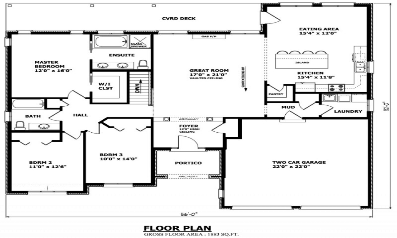 Bungalow house floor plans small bungalow house plans for Small cottage plans canada