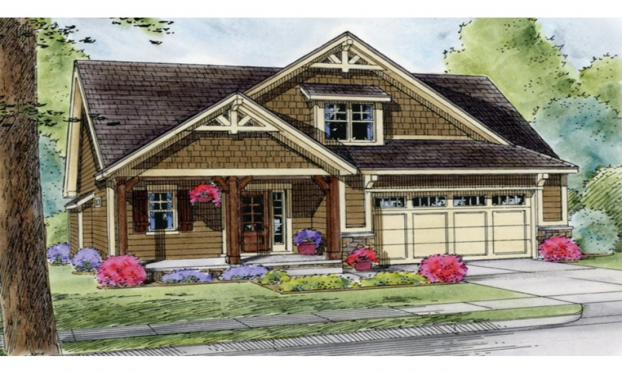 Craftsman cottage house plans with garages bungalow - What is a bungalow house ...