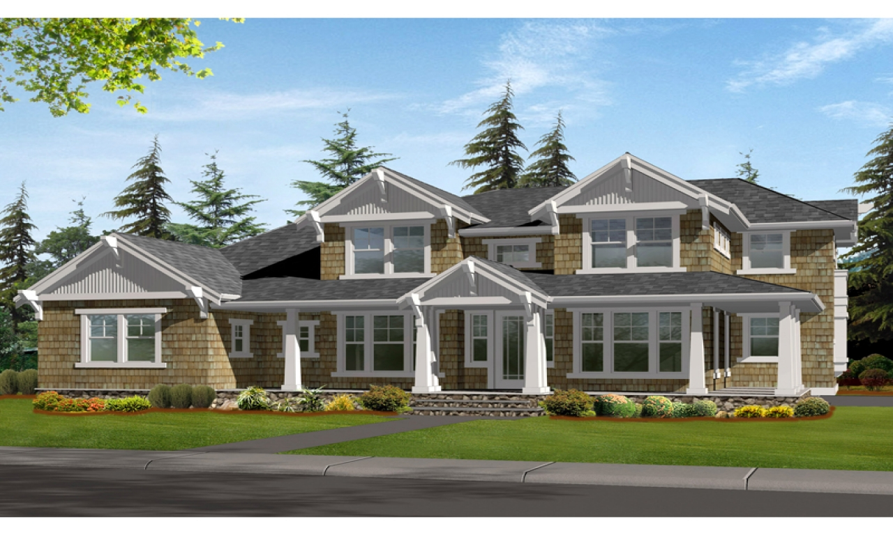 Craftsman style house plans for homes craftsman bungalow for Award winning craftsman home designs