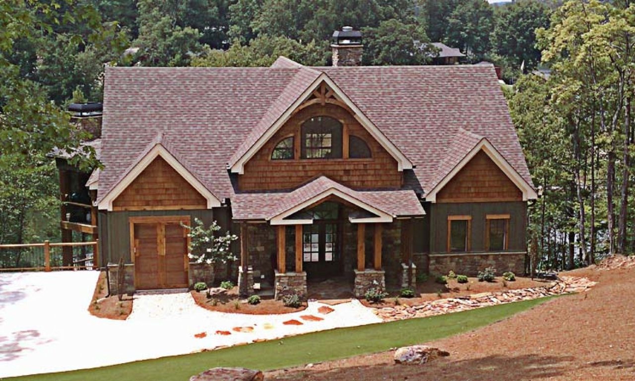 Mountain craftsman house plans rustic craftsman ranch for Small mountain house plans