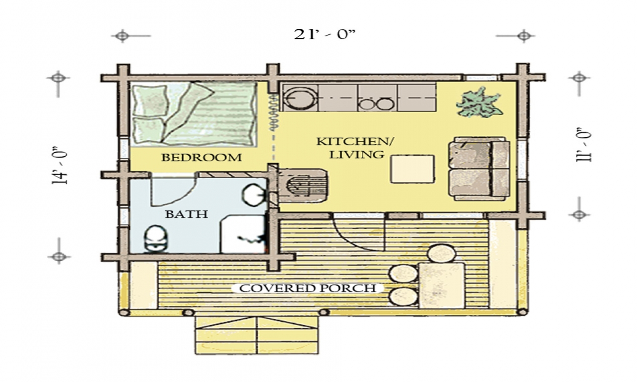 Simple cabin plans hunting cabin floor plans hunting camp for Simple cabin house plans