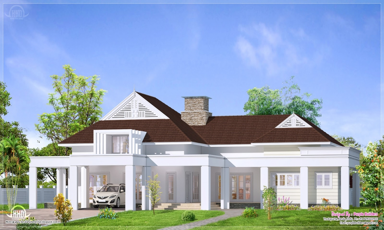 Single story bungalow house plans single story craftsman for Luxury craftsman style house plans