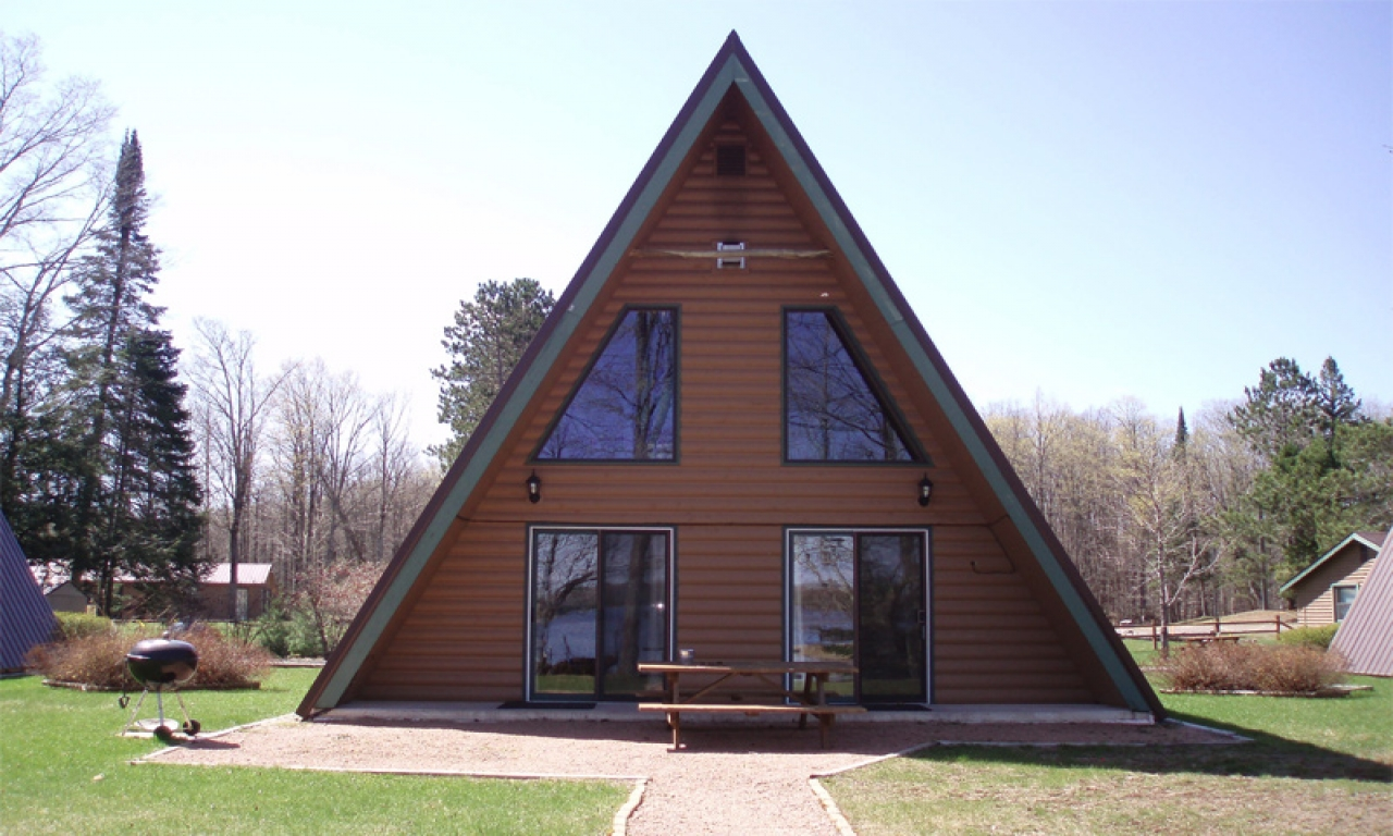 Small a frame cabin plans frame a small cabin house a for Log a frame homes