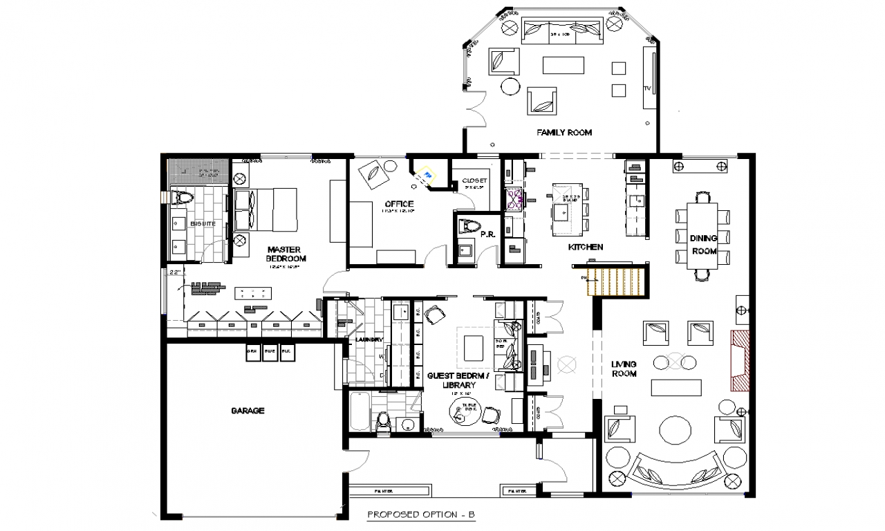 Small Open Concept Kitchen Layouts Bungalow Open Concept