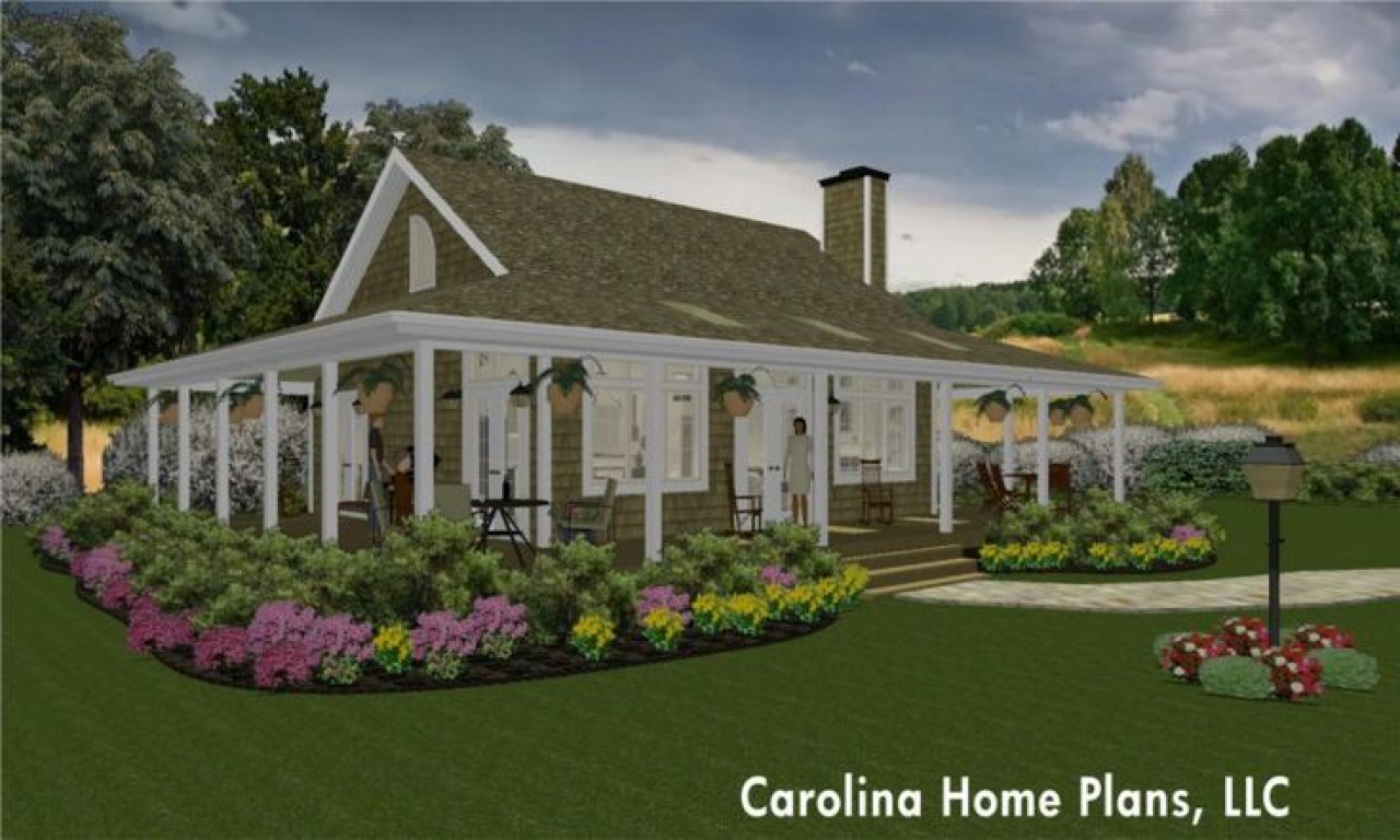 Southern cottage style houses small country cottage house for Southern cottage style house plans