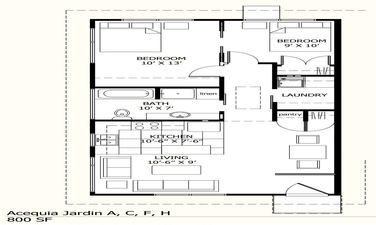 Traditional house plans house plans under 800 sq ft 800 for 800 square foot house plans