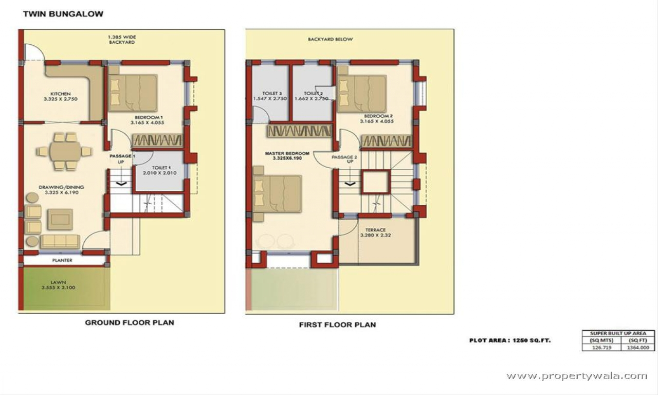 2 Bedroom Bungalow Plans Bungalow Floor Plan Floor Plans