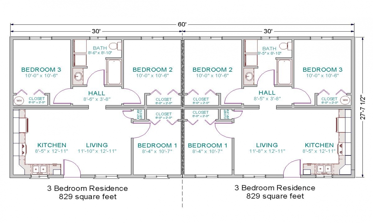 3 bedroom duplex floor plans one bedroom duplex plans for One bedroom duplex plans