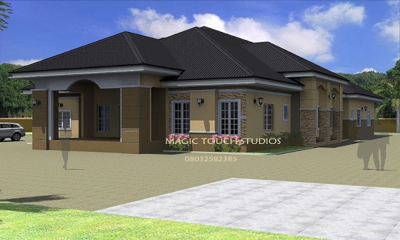 4 bedroom ranch house 4 bedroom bungalow house bungalow for Ranch bungalow plans