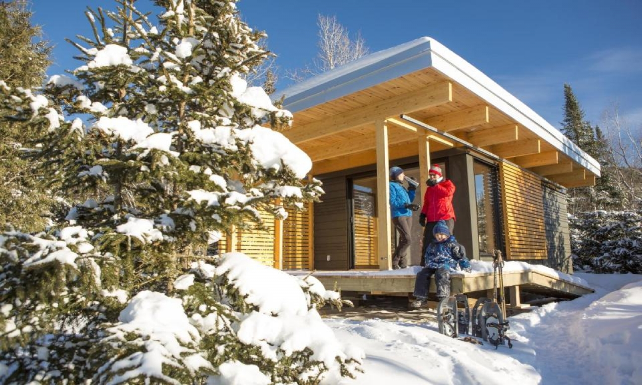 Chalet exp a modern 320 sq ft studio cabin for vacation Ski chalet plans