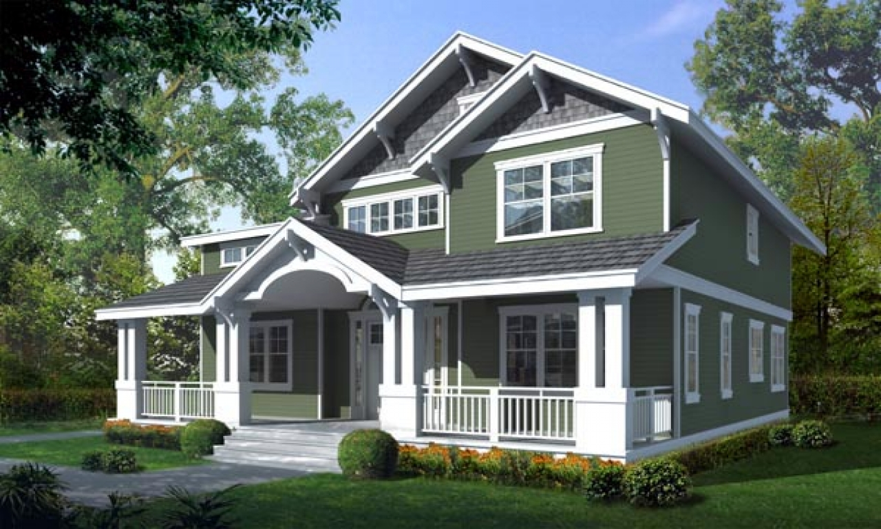 Craftsman bungalow house plans craftsman style house plans for Craftsman home plans