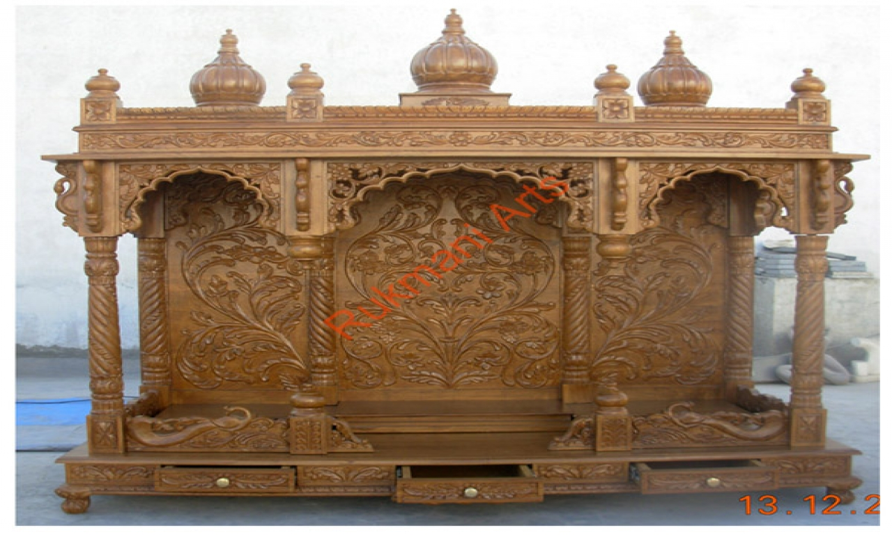 Designs Temple Indian Conncrit Home Temple Design Wooden Home Designs