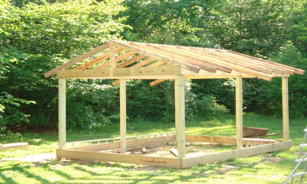 How to build a deck how to build a small cabin on a budget for Building a cottage on a budget