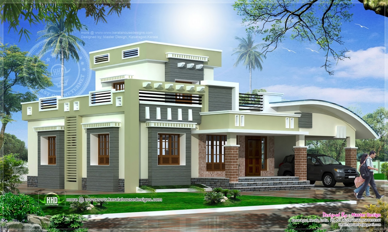 Kerala single floor home design single story open floor for Single storied kerala house plans