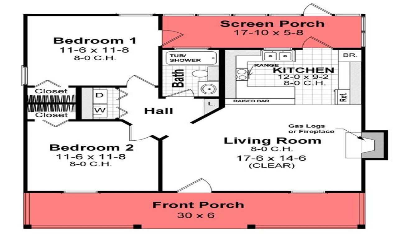 Simple small house floor plans house plans under 800 sq ft for 800 sq foot house plans
