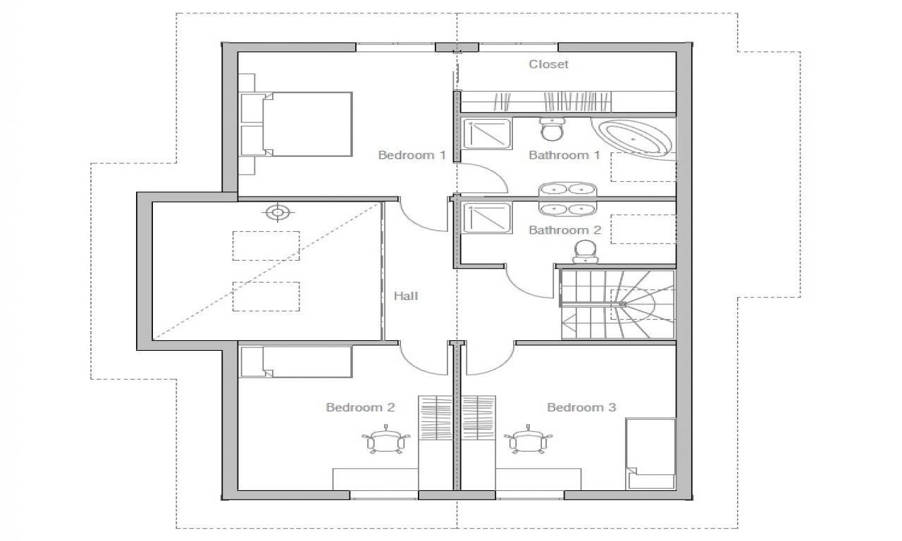 Small affordable house plans small two bedroom house plans for Affordable home designs