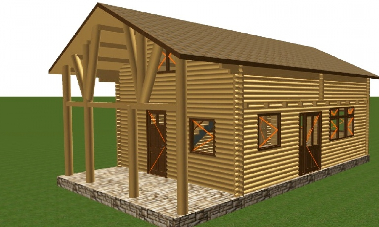 Wood garage building kits pole garage kits wood frame for Garage house kits
