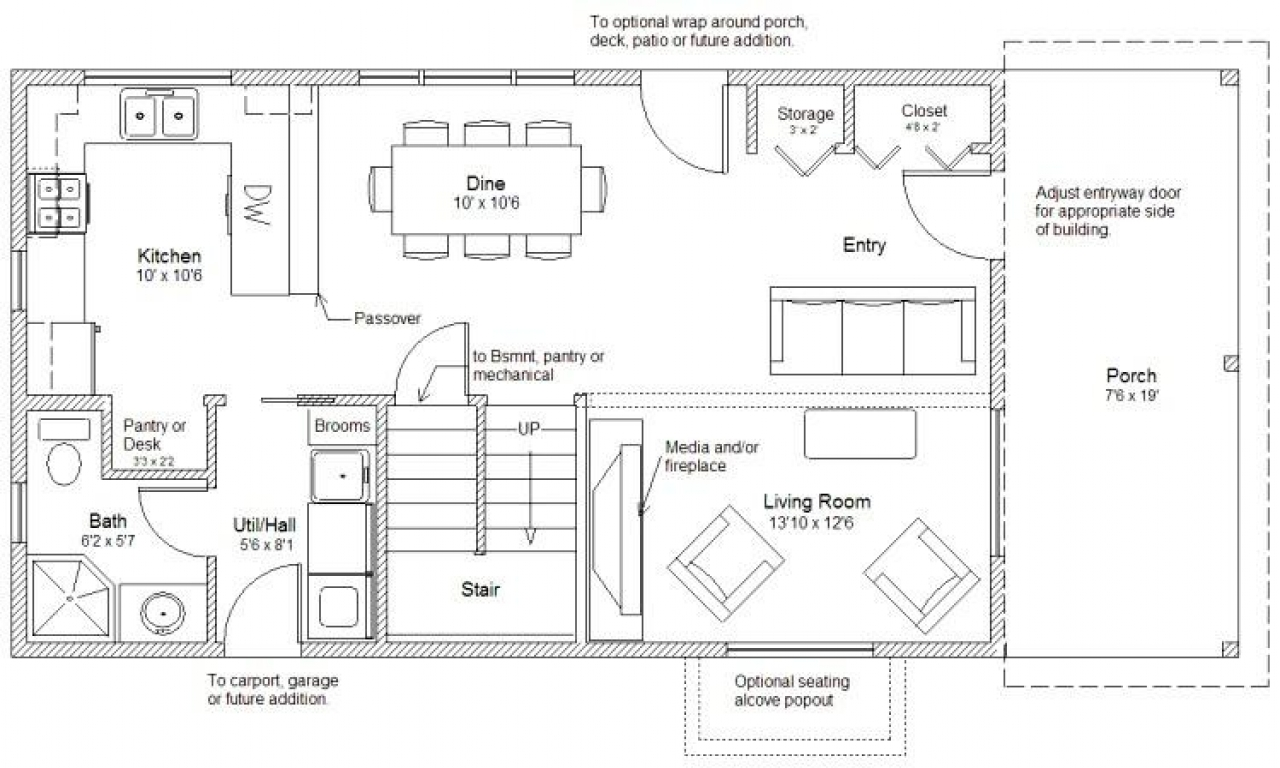 20 X 20 House Plans 20 X 20 2 Story Cabin Floor Plan, 2 ...