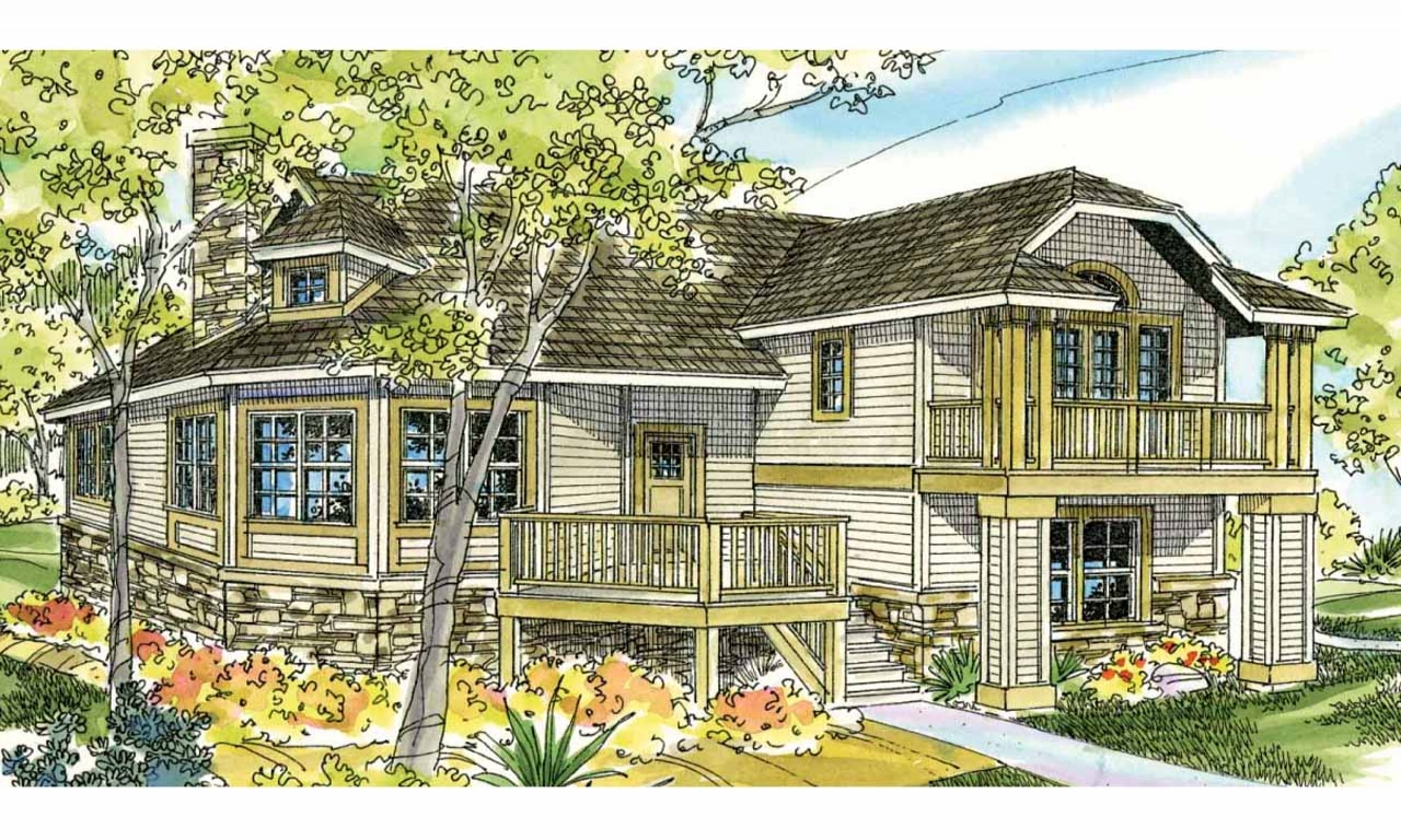 Beach Cottage House Plans On Pilings Beach House Floor