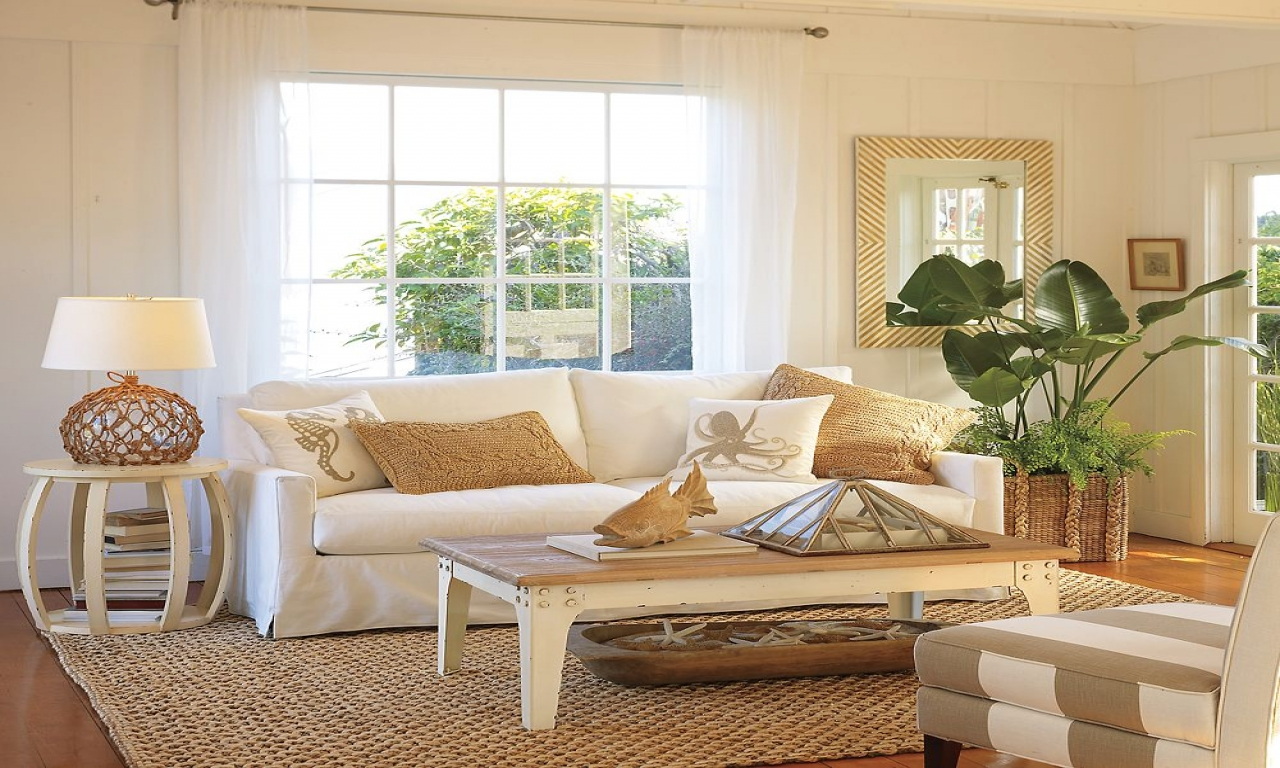 Beach Style Living Room Ideas Beach Cottage Living Room