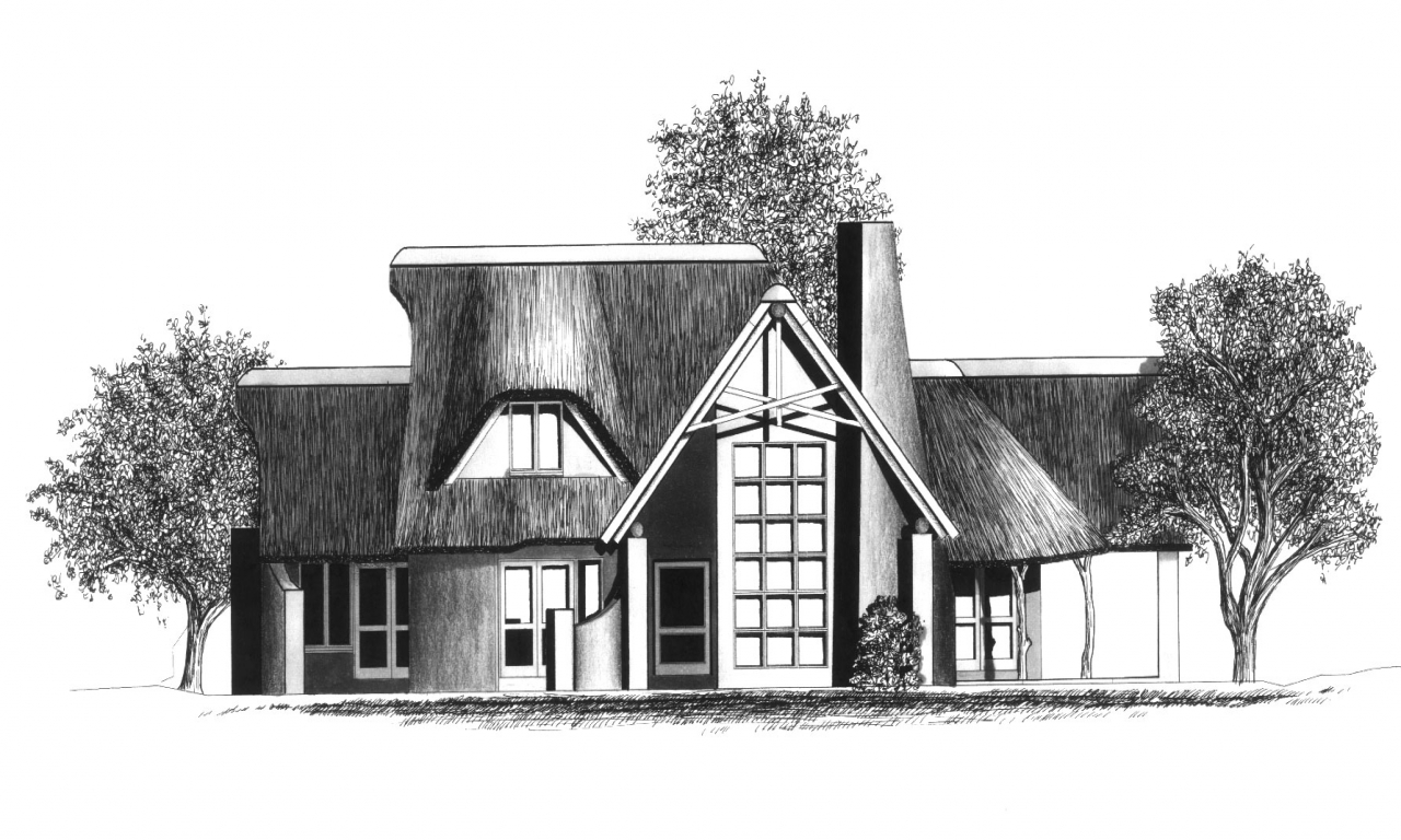 Big houses in south africa south africa thatched house for Thatched house plans