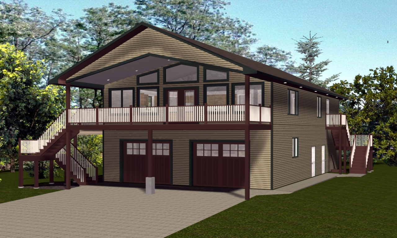 Cottage house plans with porches cottage cabin house plans for Easy cabin designs