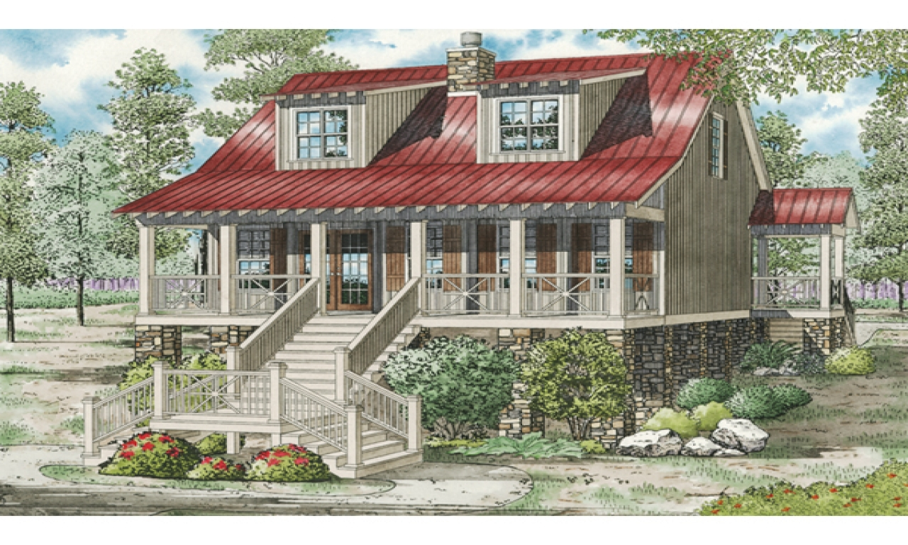 Cottage style raised house plans craftsman style homes for Raised cottage house plans