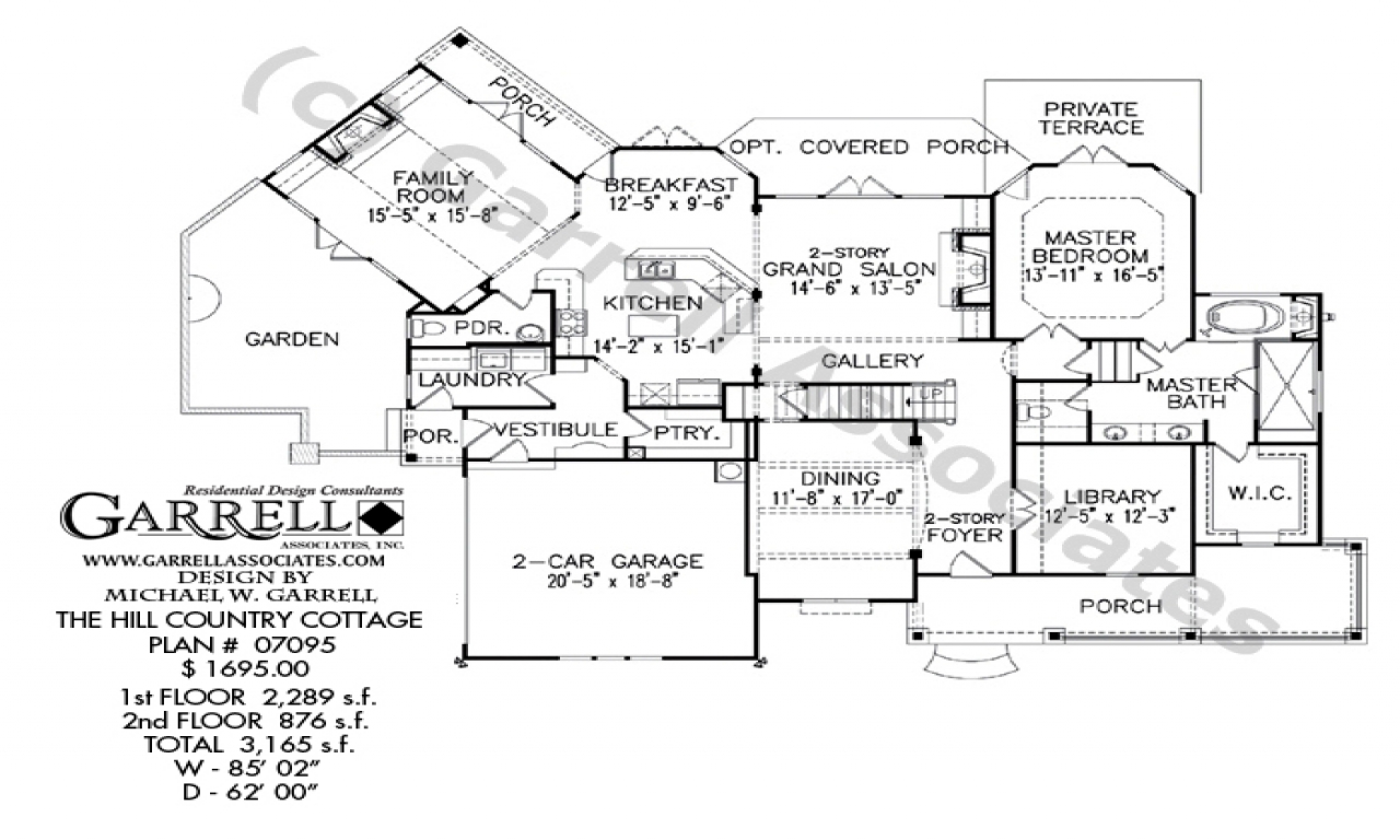 Country cottage house plans with porches country cottage for Country cottage floor plans