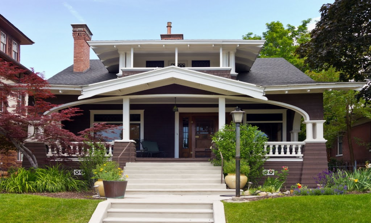 Craftsman bungalow style houses craftsman bungalow house for House plans utah craftsman