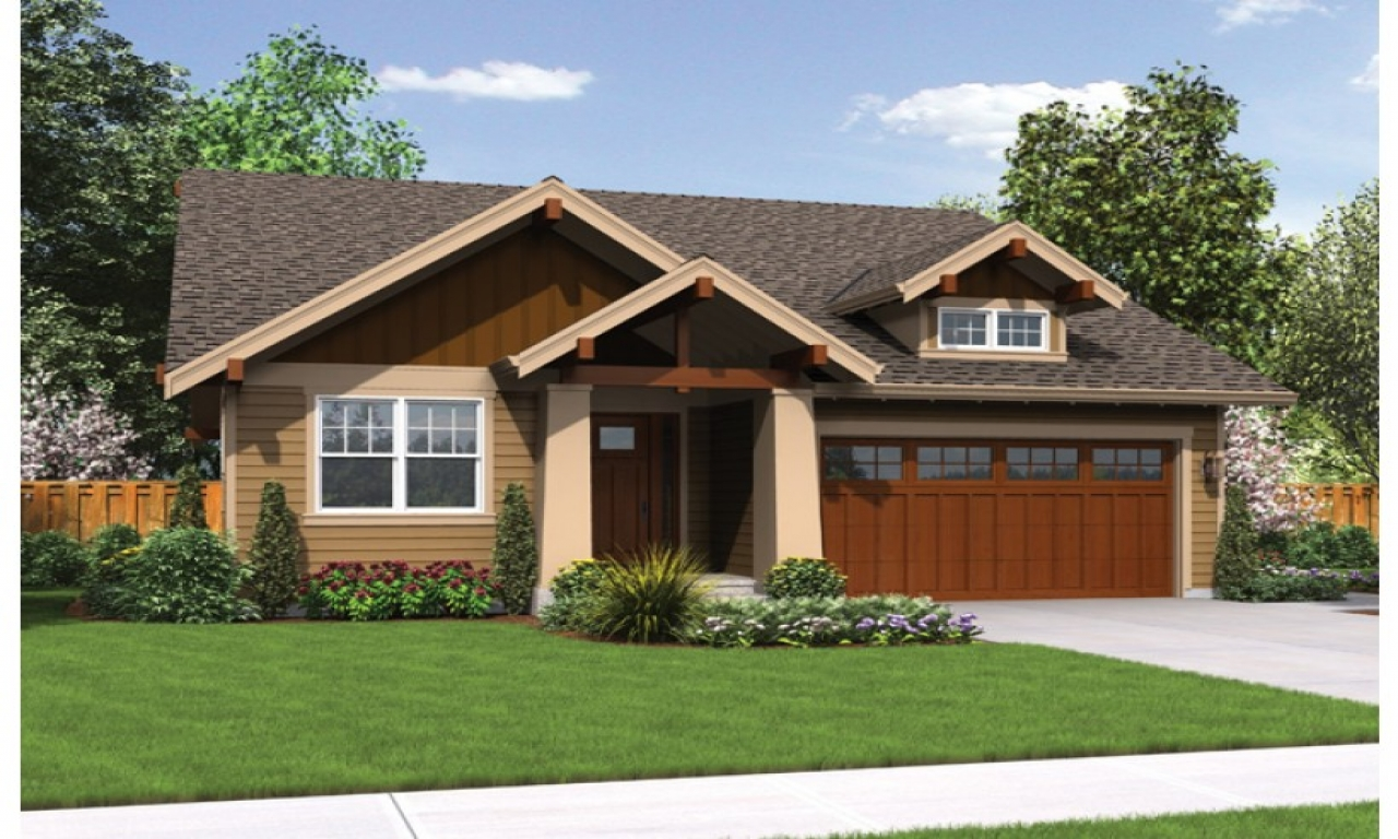Craftsman style house plans for small homes craftsman for Craftsman style homes open floor plans