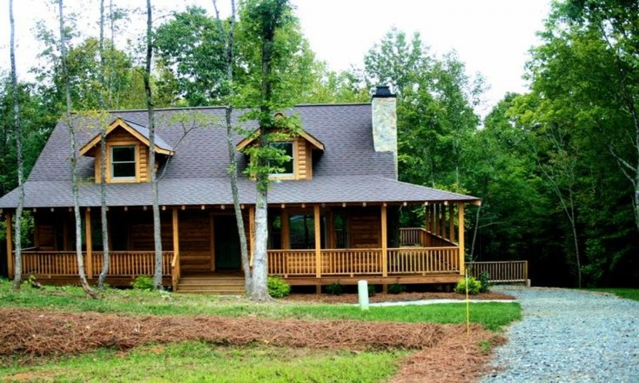Log home with shu log homes with wrap around porch log for Log home porches