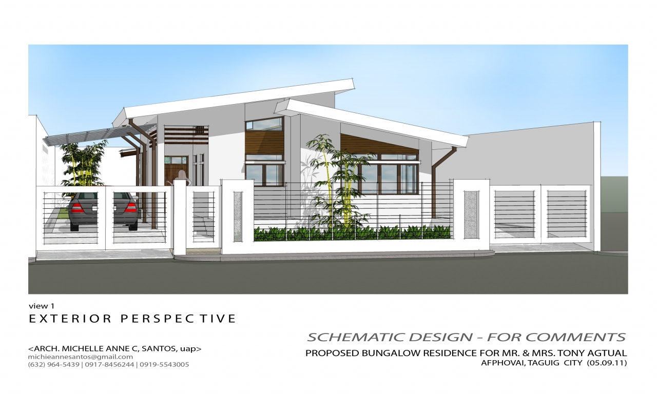 Simple house bungalow design philippines design simple for Simple house design