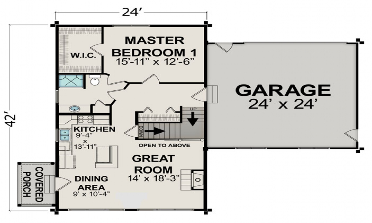 Small house floor plans under 600 sq ft small two bedroom for 600 sq ft house plans 2 bedroom