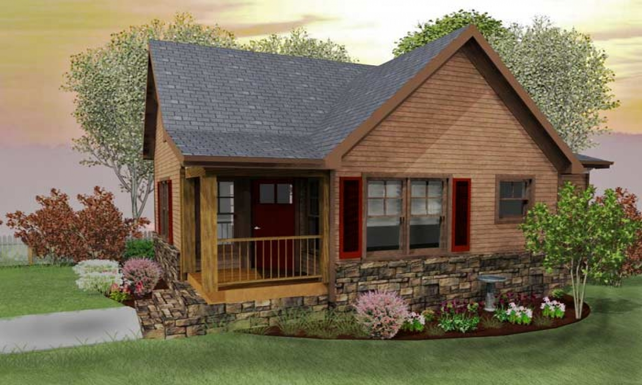 Small house plans rustic cabin small rustic cabin house for Rustic lodge house plans
