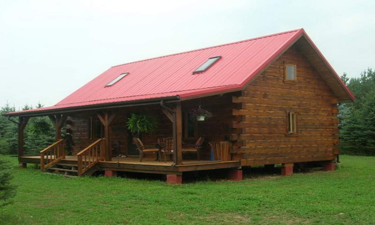 Small log cabin home house plans small log cabins with for Small log cabins with loft
