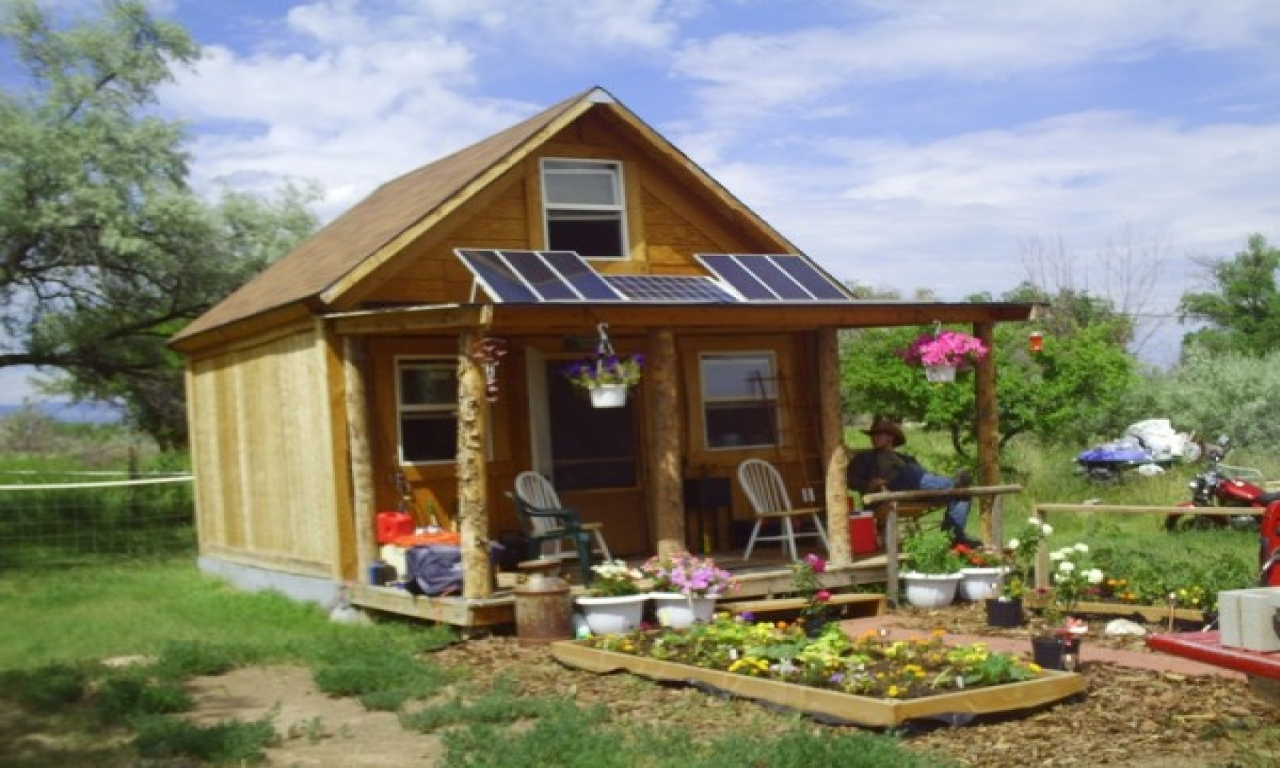 Tiny house off the grid solar tiny house floor plans for Small off grid home plans