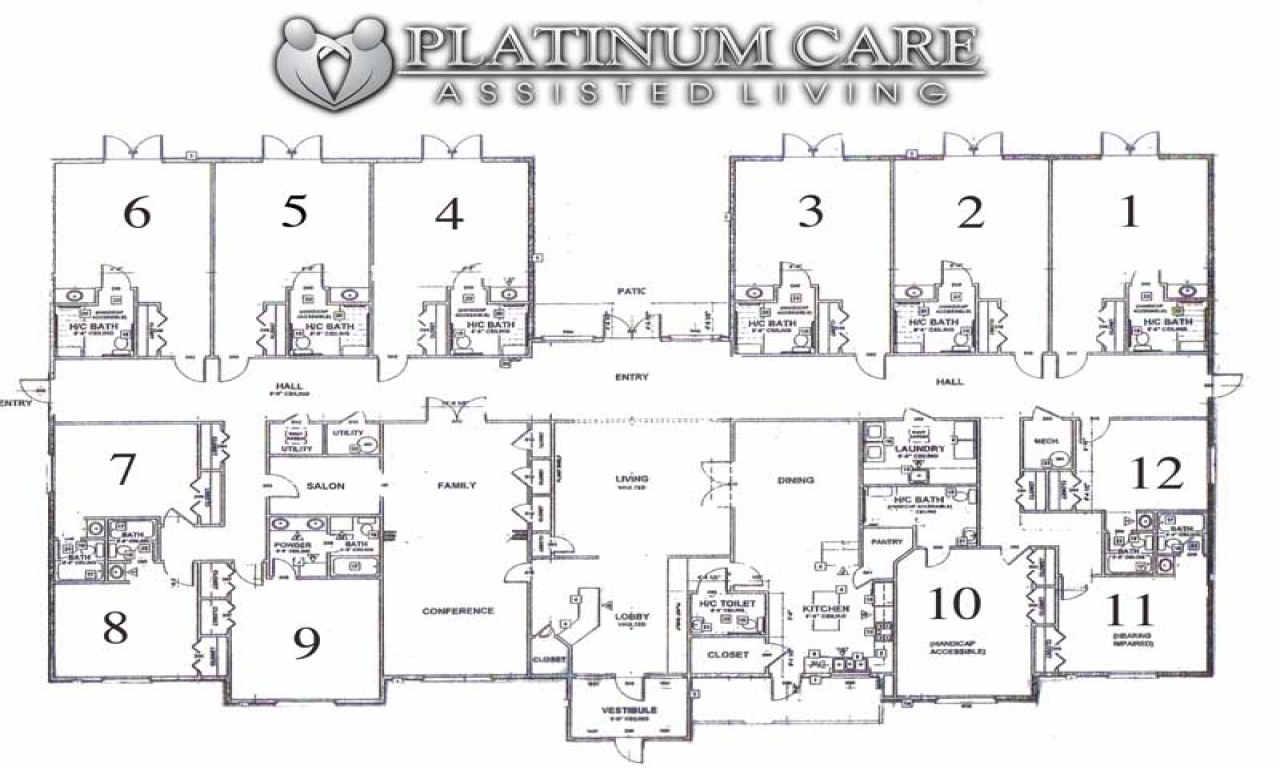Assisted living floor plans assisted living room layouts for Home design for seniors