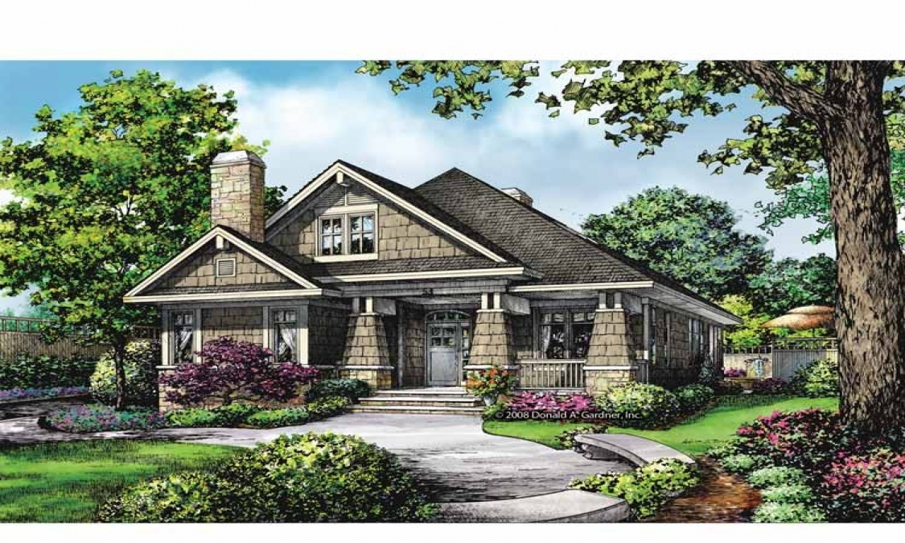 Craftsman style house plans craftsman house plans small for Cottage ranch house plans
