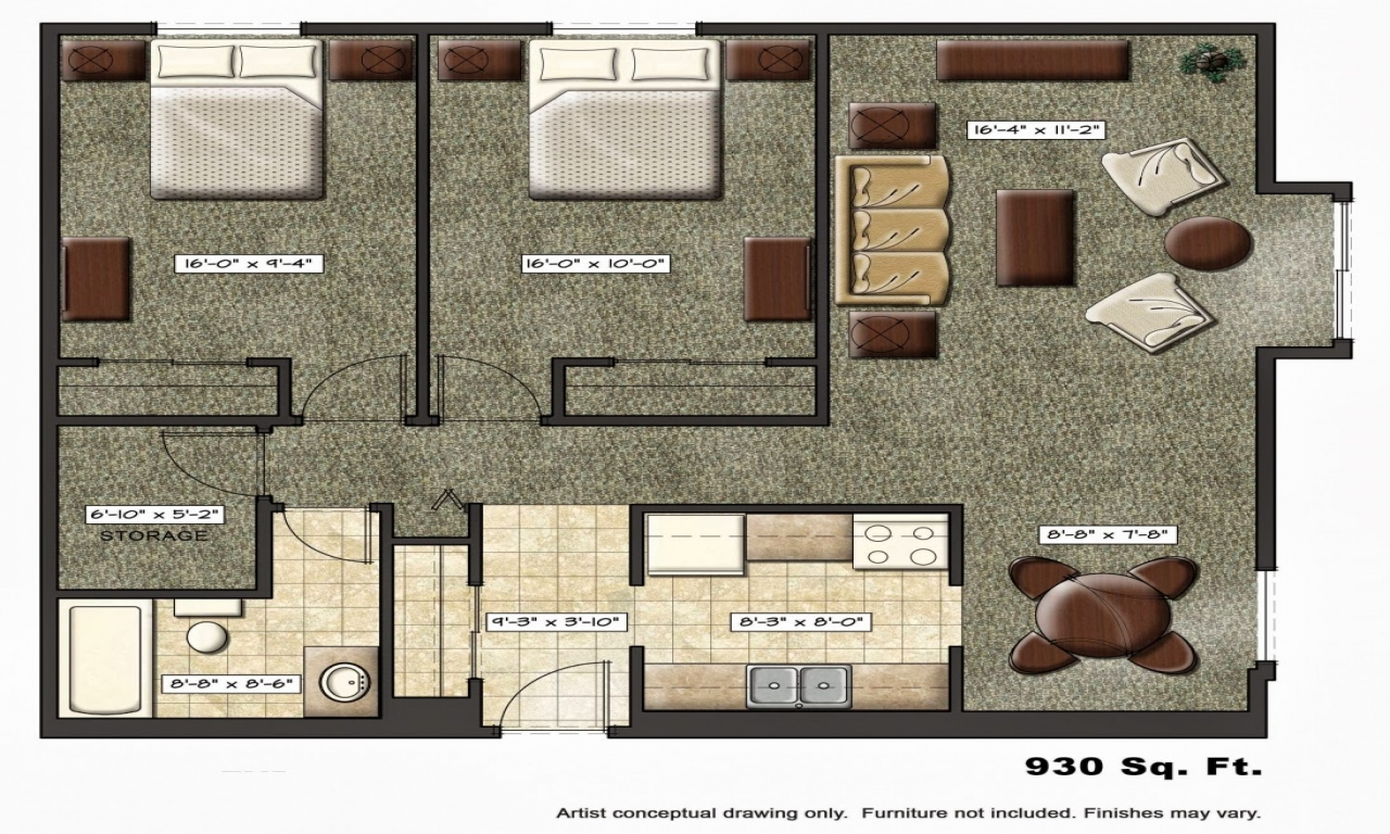 Luxury apartment floor plans small apartment floor plan for Small luxury floor plans