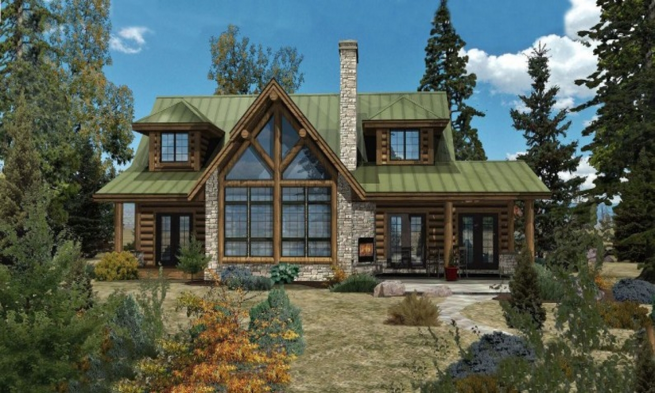 Ranch floor plans log homes log home floor plans and for Ranch log home floor plans