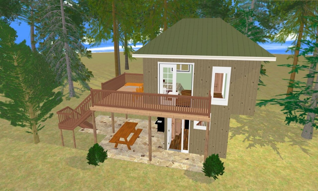 Simple tree house plans tree house floor plans 300 sq ft for Small cozy home plans