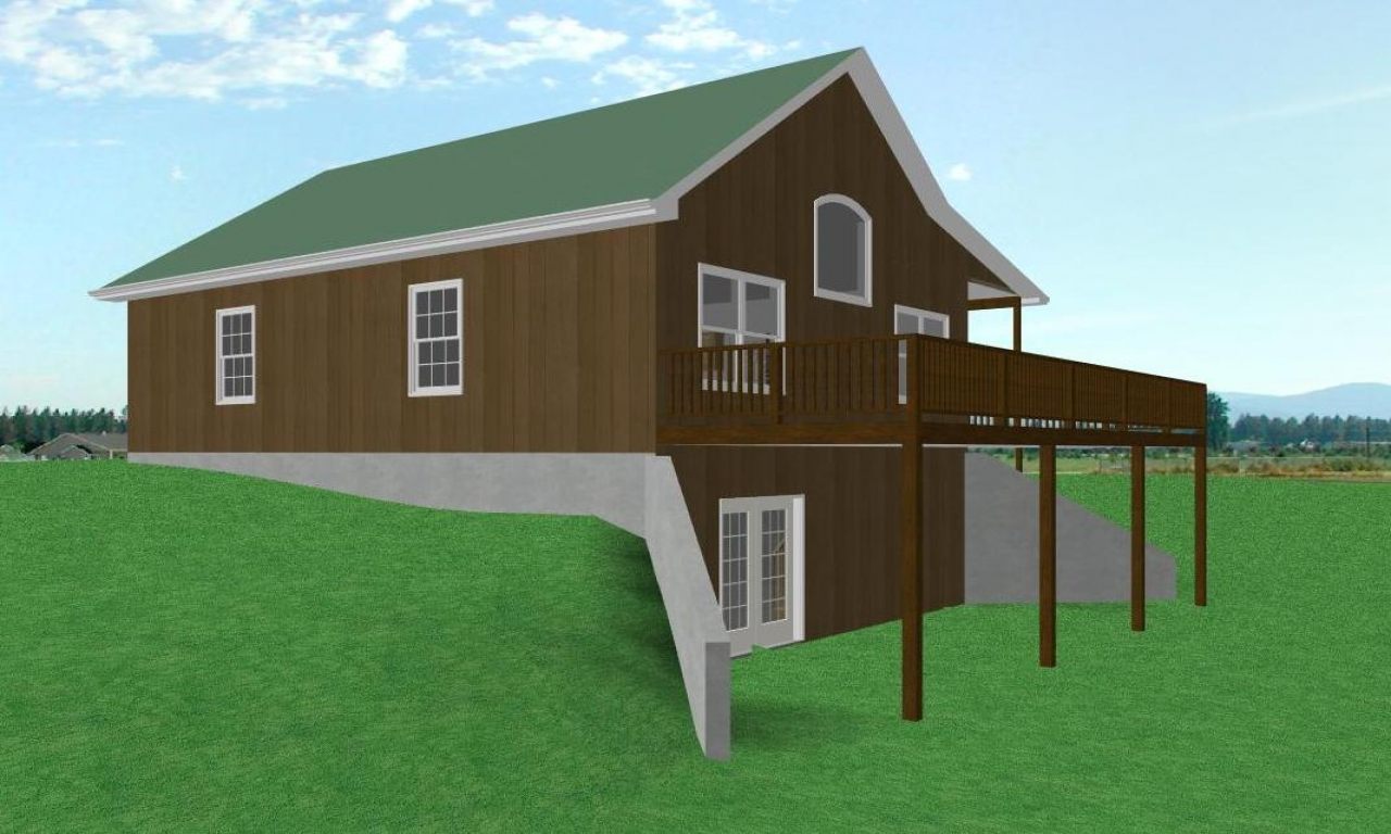 Small house plans with walkout basement small house plans for Log cabin with walkout basement
